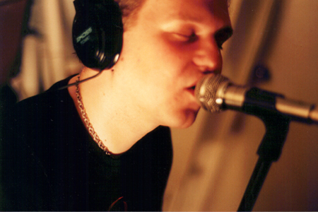 Michael Bird recording vocals